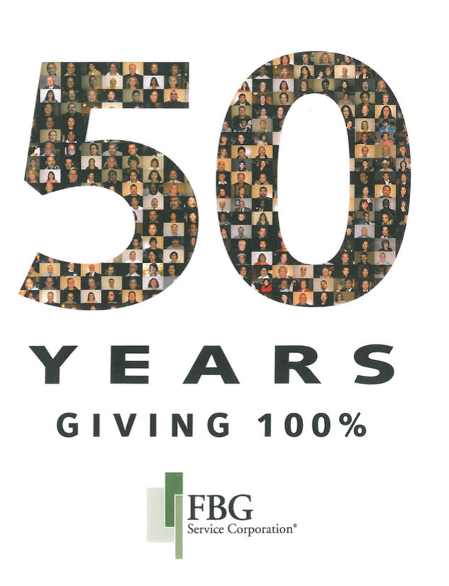 50 years giving 100% graphic