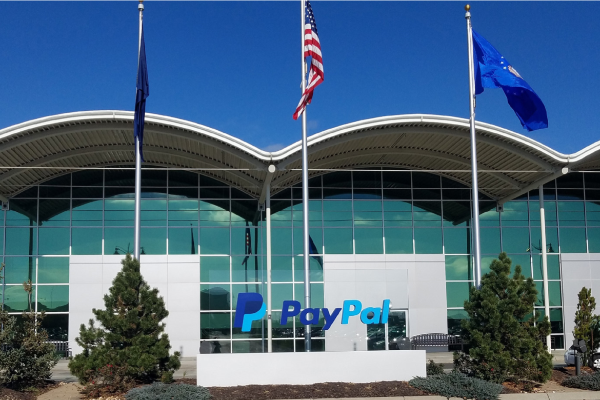 Front of PayPal HQ in Omaha