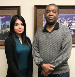 FBG Site Supervisor Estrella Morales Herrera and Program Manager Richard Blutcher